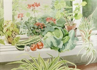 vegetables in the greenhouse by patricia jorgensen