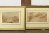 the esk above ruswarp and the esk below ruswarp (2 works) by george weatherill