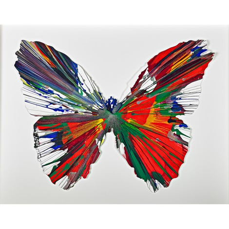 butterfly spin painting by damien hirst