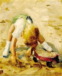 the red wagon by johann (hans) konig