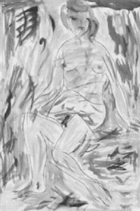 sitzender weiblicher akt by alexandre rochat