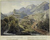 das bad st. wolfgang in fuscher thale im salzburgischen (from bilder aus den alpen der österreichischen monarchie) by jacob alt