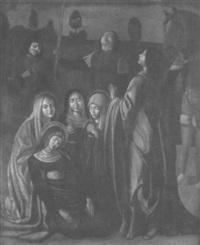 szene aus der kreuzigung christi by michele da verona