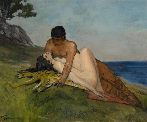 mythologische szene by wilhelm trübner
