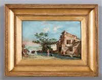 paesaggio con figure by luigi basiletti