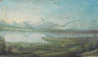 vue sur genève avec le mont-blanc et le salève by françois métral