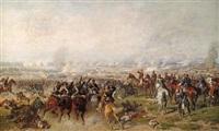 kaiser wilhelm i. mit seinen generälen auf einer anhöhe nach der schlacht von sedan (?) by louis (ludwig) braun