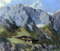 gehöft im hochgebirge by hans sengthaler