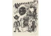 la lune noire from chagall lithographe vol.i deluxe by marc chagall