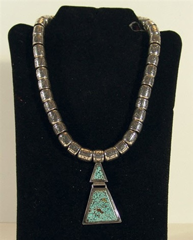 navajo necklace by mike perez