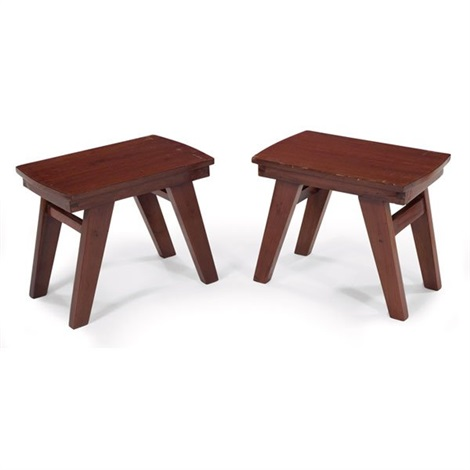 small stools pair by pierre jeanneret