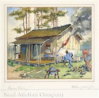bayou cabin by charles oglesby longabaugh