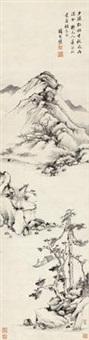 秋江孤艇图 (landscape) by xiang shengmo
