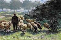 the sheep herder by johannes wilhelm van der heide