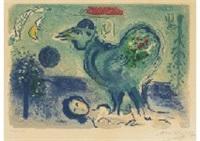 paysage au coq by marc chagall