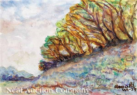 trees on the bluffs st francisville by william arnold