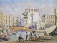 porto salvo mit der kirche santa maria by giacinto gigante