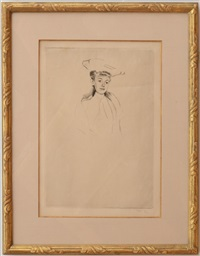 portrait sketch of madame fontveille (no. 2) by mary cassatt