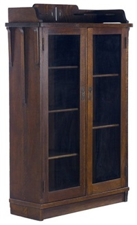 two door bookcase by shop of the crafters