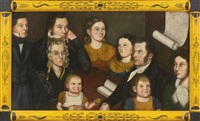 portrait of dr. john lambert richmond and his family by american school (19)