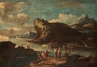 italian landscape by salvator rosa