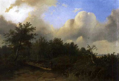 landschaft by franciscus antonius de haan