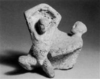 kniende und sitzende figur by kurt lehmann