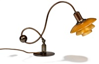 ph-2/2 rarte adjustable piano lamp with frame by poul henningsen