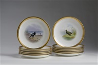 game plates (set of 11 works) by j.e. dean