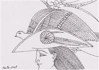 konvolut: 5 zeichnungen by wolfgang hutter
