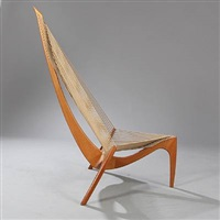 harpestol, easy chair by jorgen hovelskov