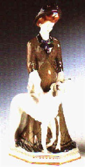 dame mit windhund by hermann hubatsch