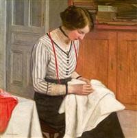 bei der näharbeit by friedrich könig