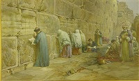 the jews wailing place, jerusalem by william simpson