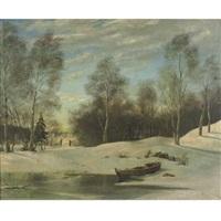 snowy landscape by a. sokolov