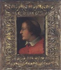 profilporträt eines jungen mönches mit tonsur by agnolo bronzino