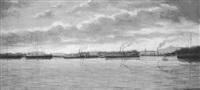 elbflotte vor dresden by ernst oskar simonson-castelli