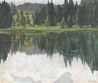 lac de joux by walter rudolf mumprecht