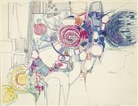 komposition mit rosa spirale by heinz kreutz