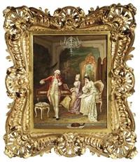 musizierende gesellschaft im salon by f. lendil