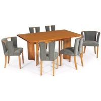 dining table and chairs (7 works) by eliel saarinen