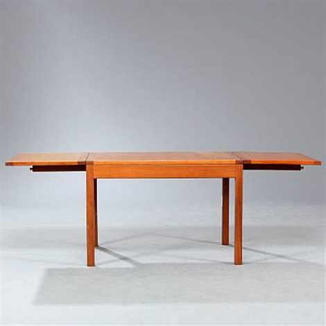 Attirant Coffee Table With Two Fold Down Leaves (model 5360) By Børge Mogensen