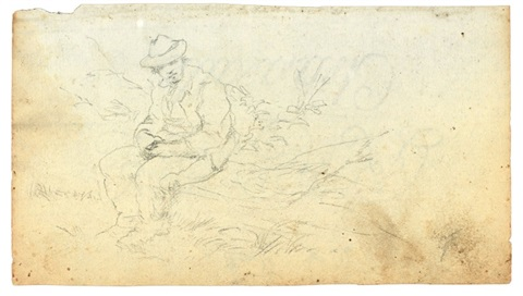 disegni a soggetto vario rectoverso various sizes 5 works by giovanni fattori