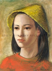 girl in yellow hat by emily guthrie smith