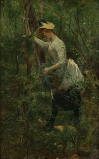 joven en el bosque by wilhelm maria hubertus leibl