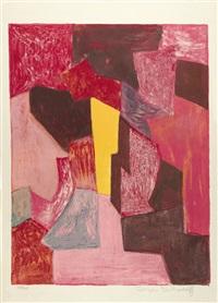 composition rouge, carmin et jaune by serge poliakoff