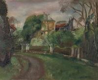 la route de gairaut (+ paysage de chelles; 2 works) by robert bouchet