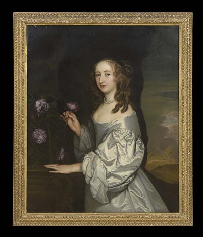 portrait of elizabeth ashburnham, nee poulett by john hayls