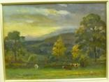 summer pasture with cattle grazing by ernest higgins rigg