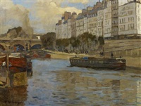 am ufer der seine in paris by rudolf hellwag